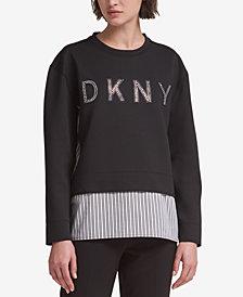 DKNY Layered-Look Logo Sweatshirt, Created for Macy's