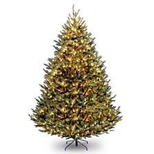 National Tree 9' Natural Fraser Medium Fir Hinged Tree with 1200 Clear Lights