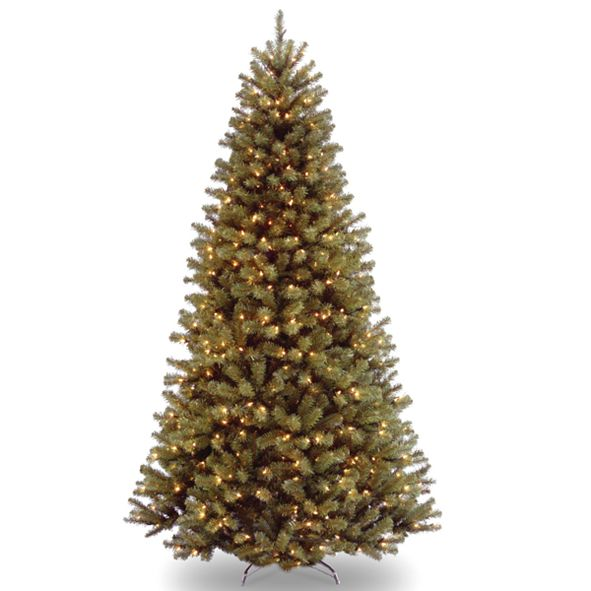 National Tree Company National Tree 7.5' North Valley Spruce Hinged Tree with 750 Clear Lights
