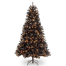 National Tree 6 .5' North Valley Black Spruce Hinged Tree with 450 Clear Lights