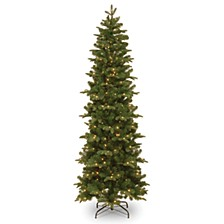 National Tree 7 .5' Feel Real Prescott Pencil Slim Hinged Tree with 350 Clear Lights