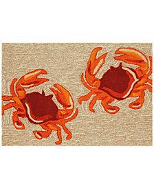 Liora Manne Front Porch Indoor/Outdoor Crabs Natural 2' x 3' Area Rug