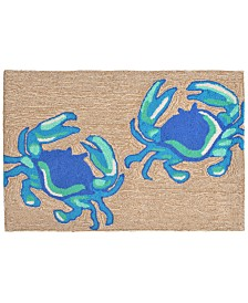 Liora Manne Front Porch Indoor/Outdoor Crabs Natural 2' x 6' Area Rug