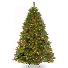 National Tree 7 .5' Winchester Pine Hinged Tree with 500 Multi Lights