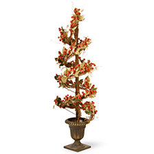 "National Tree Company 48"" Berry/Leaf Vine Topiary"