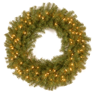 """National Tree Company 30"""" Norwood Fir Wreath with 100 Clear Lights"""