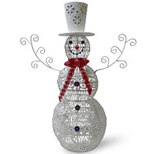 "National Tree 35"" Metal Snowman"