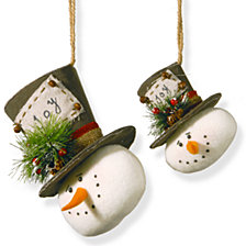 National Tree Snowman Ornament Set