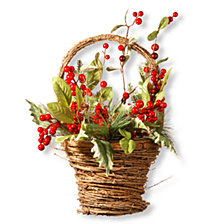 "National Tree 16"" Holiday Basket"