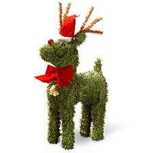 "National Tree 12"" Evergreen Reindeer"