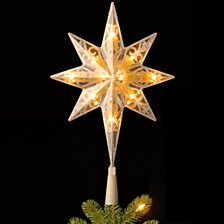 "National Tree 11"" Tree Top Star with Battery Operated Warm White LED Lights"