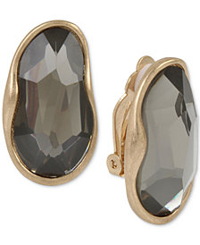 Robert Lee Morris Soho Gold-Tone Stone Clip-On Drop Earrings