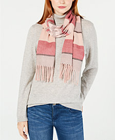 Cejon Colorblocked Stripe Fringe Scarf