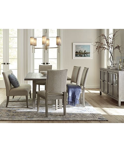 Super Parker Expandable Dining Furniture 6 Pc Set Table 4 Side Chairs Bench Created For Macys Pdpeps Interior Chair Design Pdpepsorg
