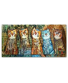Trademark Global Oxana Ziaka 'Cats of Israel' Canvas Art Print Collection