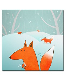 Trademark Global Carla Martell 'Winter Foxes' Canvas Art Print Collection