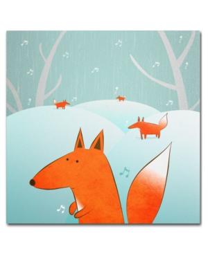 Trademark Global Carla Martell Winter Foxes Canvas Art Print 18 x 18