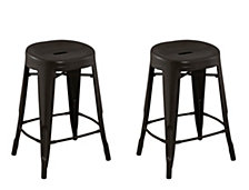 Contoured Seat, Round Backless Counter Stool