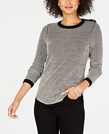 Charter Club Petite Bi-Stitch Sweater, Created for Macy's