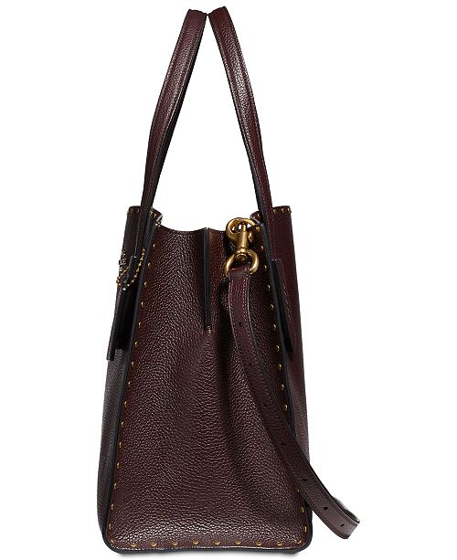 bc632237b66 COACH Border Rivets Charlie Carryall in Pebble Leather   Reviews ...