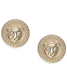 Thalia Sodi Gold-Tone Crystal Lion Stud Earrings, Created for Macy's