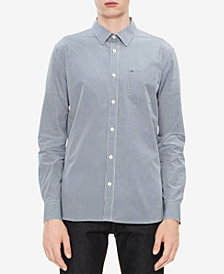 Calvin Klein Men's Set Placket Gingham Shirt