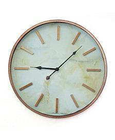 COPPER MARBLE  CLOCK