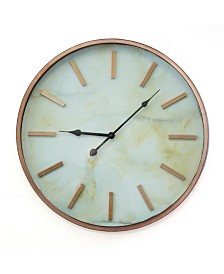 Stratton Home Decor Copper Marble Wall Clock