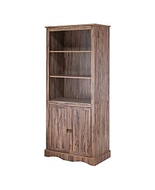 Simplicity Bookcase with 3 Shelves and 2 Doors