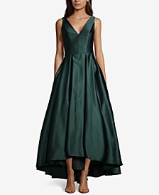Satin Fit & Flare Gown