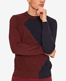 A|X Armani Exchange Men's Colorblocked Wool Sweater