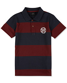A|X Armani Exchange Men's Rugby Striped Polo