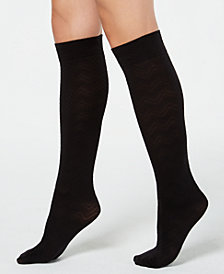 HUE® Chevron-Texture Knee High Socks