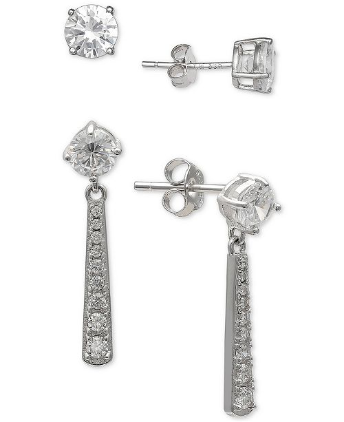 f020631b2 Giani Bernini 2-Pc. Set Cubic Zirconia Stud & Drop Earrings in Sterling  Silver