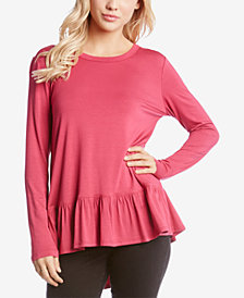 Karen Kane High-Low Peplum Top
