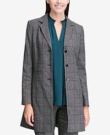 Calvin Klein Plaid Longline Blazer