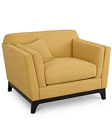 "Cistella 44"" Fabric Armchair, Created for Macy's"