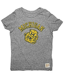 Retro Brand Michigan Wolverines Tri-Blend T-Shirt, Toddler Boys (2T-4T)