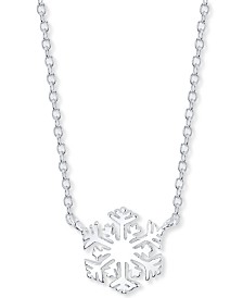 "Unwritten Snowflake Pendant Necklace in Sterling Silver, 16"" + 2"" extender"