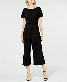 French Connection Lace-Back Cropped Jumpsuit