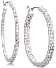 Crystal In & Out Hoop Extra Small Earrings