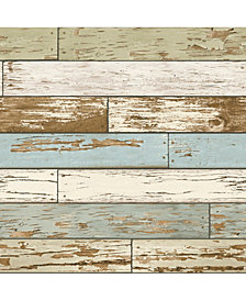 Old Salem Vintage Wood Peel and Stick Wallpaper