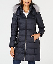 Hooded Fur-Trim Puffer Coat