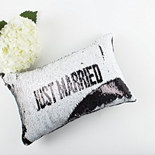Two Way Sequin Pillow Just Married
