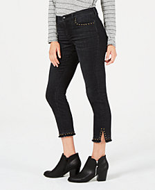 Style & Co Studded Skinny Ankle Jeans, Created for Macy's