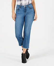 Style & Co Petite High-Rise Curvy-Fit Raw-Hem Jeans, Created for Macy's