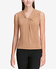 Calvin Klein Twisted V-Neck Shell