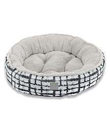 Elle Decor Comfy Pooch Dog Round Bolster Bed