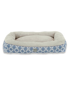 Elle Decor Comfy Pooch Dog Bolster Bed Pillow Bottom