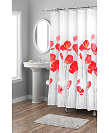 Nicole Miller Petunia Printed Spring Cotton Shower Curtain